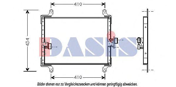 Конденсатор, кондиционер AKS DASIS 082270N