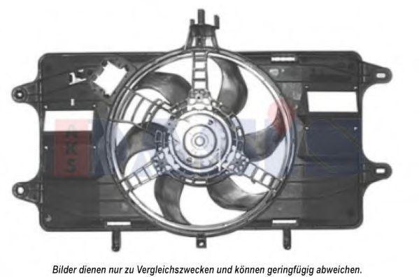 Вентилятор, охлаждение двигателя AKS DASIS 088035N