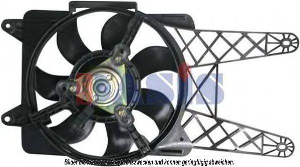 Вентилятор, охлаждение двигателя AKS DASIS 088061N