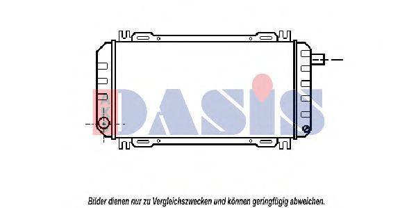 Радиатор, охлаждение двигателя AKS DASIS 090008N