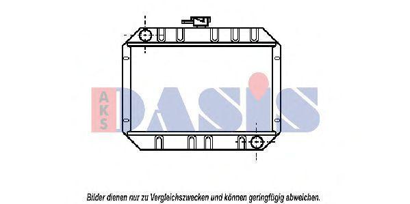 Радиатор, охлаждение двигателя AKS DASIS 090010N