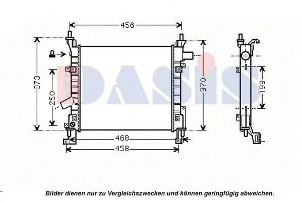 Радиатор, охлаждение двигателя AKS DASIS 090023N