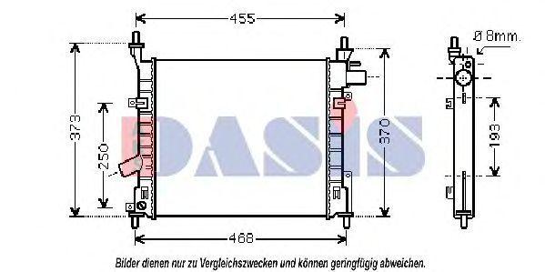 Радиатор, охлаждение двигателя AKS DASIS 090024N