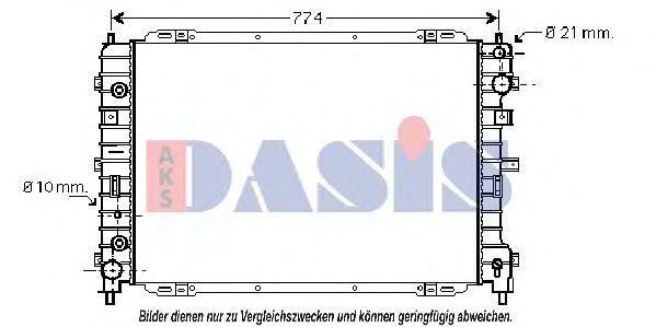 Радиатор, охлаждение двигателя AKS DASIS 090025N