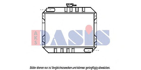 Радиатор, охлаждение двигателя AKS DASIS 090030N