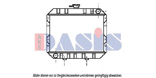 Радиатор, охлаждение двигателя AKS DASIS 090049N
