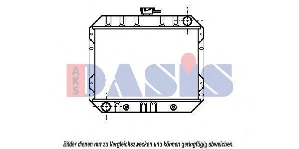 Радиатор, охлаждение двигателя AKS DASIS 090053N