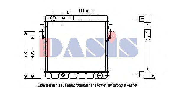 Радиатор, охлаждение двигателя AKS DASIS 090058N