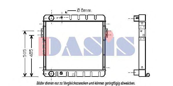 Радиатор, охлаждение двигателя AKS DASIS 090063N