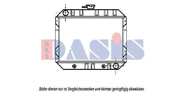 Радиатор, охлаждение двигателя AKS DASIS 090069N