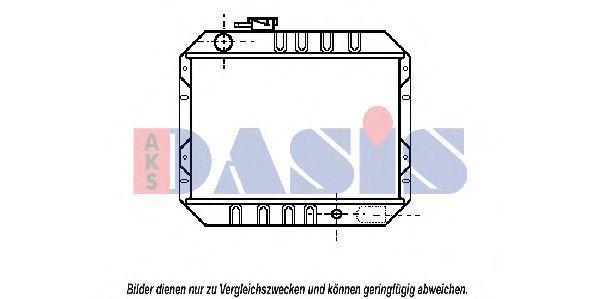 Радиатор, охлаждение двигателя AKS DASIS 090070N