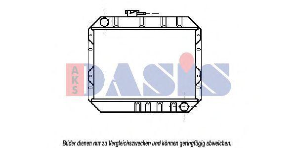 Радиатор, охлаждение двигателя AKS DASIS 090080N