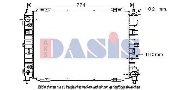 Радиатор, охлаждение двигателя AKS DASIS 090084N