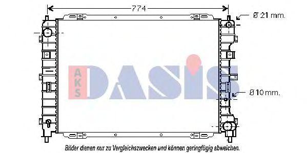 Радиатор, охлаждение двигателя AKS DASIS 090085N