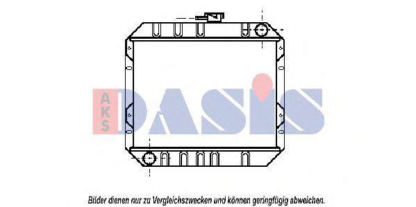 Радиатор, охлаждение двигателя AKS DASIS 090190N