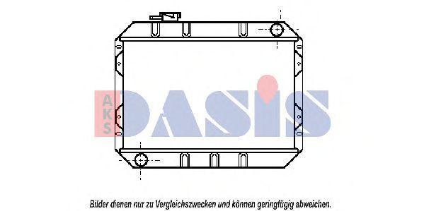 Радиатор, охлаждение двигателя AKS DASIS 090220N