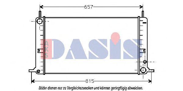 Радиатор, охлаждение двигателя AKS DASIS 090450N