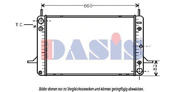 Радиатор, охлаждение двигателя AKS DASIS 090460N