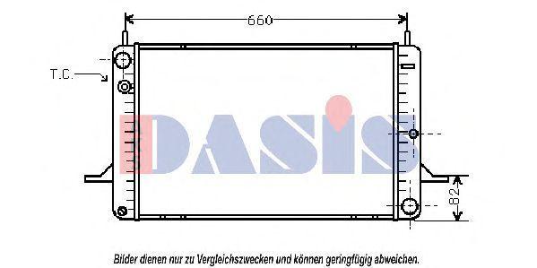 Радиатор, охлаждение двигателя AKS DASIS 090470N