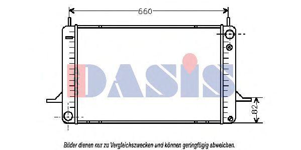 Радиатор, охлаждение двигателя AKS DASIS 090480N