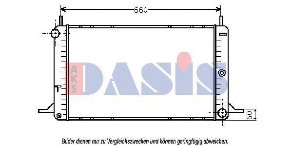 Радиатор, охлаждение двигателя AKS DASIS 090520N