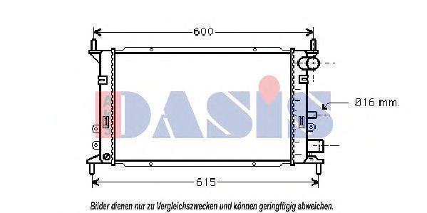 Радиатор, охлаждение двигателя AKS DASIS 090590N