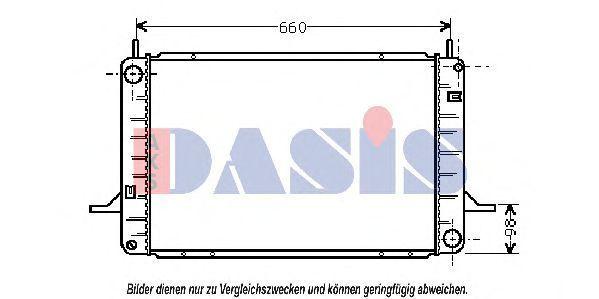 Радиатор, охлаждение двигателя AKS DASIS 091180N