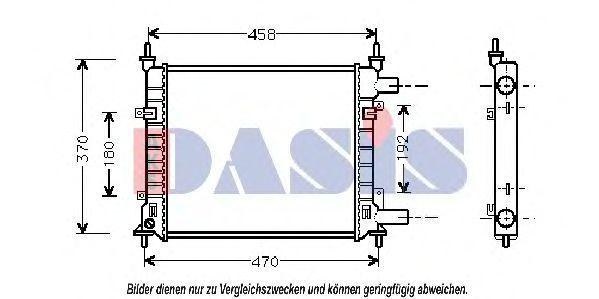 Радиатор, охлаждение двигателя AKS DASIS 091280N