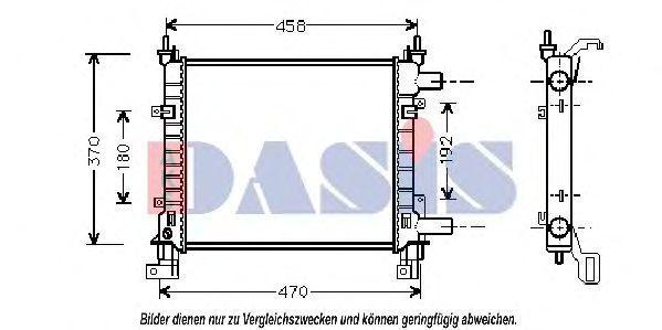 Радиатор, охлаждение двигателя AKS DASIS 091300N