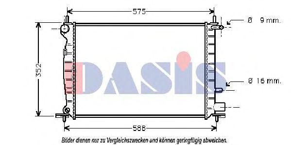 Радиатор, охлаждение двигателя AKS DASIS 091350N