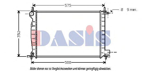 Радиатор, охлаждение двигателя AKS DASIS 091370N