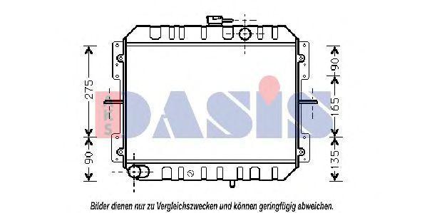 Радиатор, охлаждение двигателя AKS DASIS 091380N
