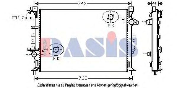 Радиатор, охлаждение двигателя AKS DASIS 092027N