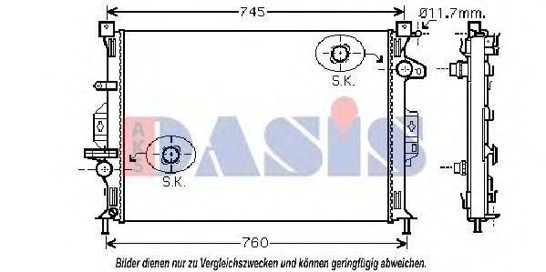 Радиатор, охлаждение двигателя AKS DASIS 092028N