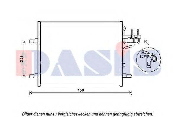Конденсатор, кондиционер AKS DASIS 092054N