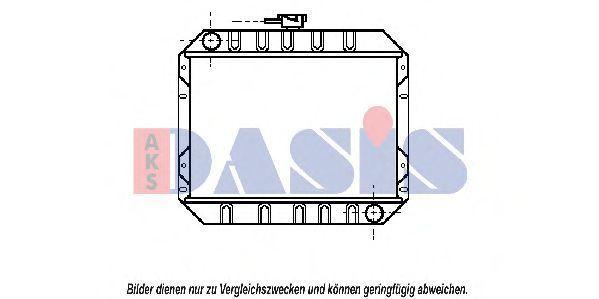 Радиатор, охлаждение двигателя AKS DASIS 092210N