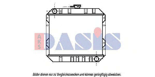 Радиатор, охлаждение двигателя AKS DASIS 092280N