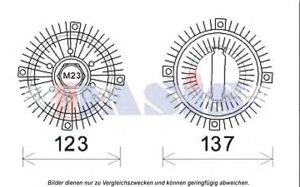 Сцепление, вентилятор радиатора AKS DASIS 098013N