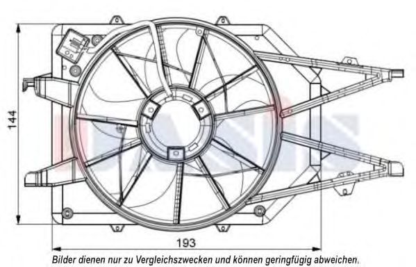 Вентилятор, охлаждение двигателя AKS DASIS 098056N