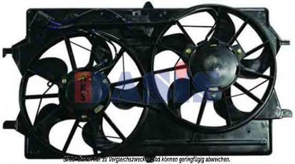 Вентилятор, охлаждение двигателя AKS DASIS 098071N