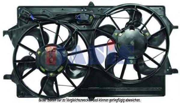 Вентилятор, охлаждение двигателя AKS DASIS 098093N