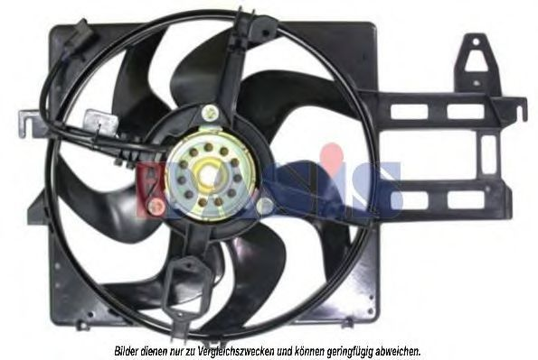 Вентилятор, охлаждение двигателя AKS DASIS 098098N