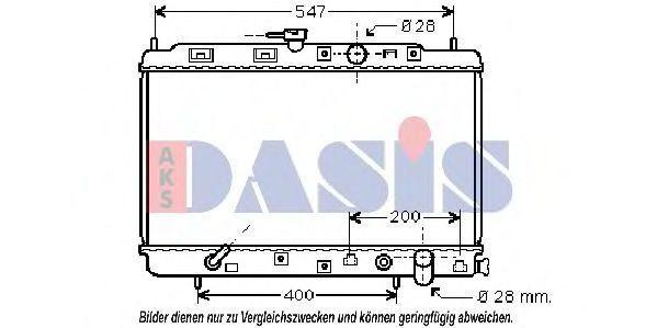 Радиатор, охлаждение двигателя AKS DASIS 100018N
