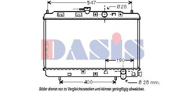Радиатор, охлаждение двигателя AKS DASIS 100021N