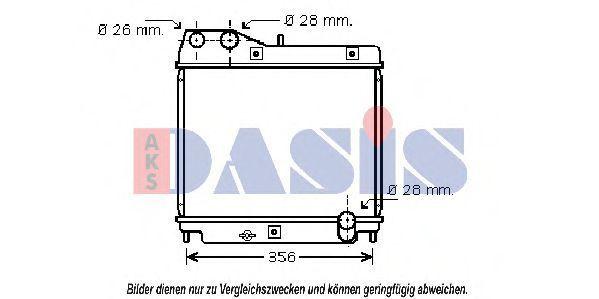Радиатор, охлаждение двигателя AKS DASIS 100026N