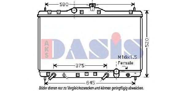 Радиатор, охлаждение двигателя AKS DASIS 100034N