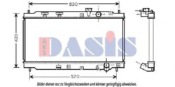 Радиатор, охлаждение двигателя AKS DASIS 100039N