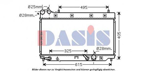 Радиатор, охлаждение двигателя AKS DASIS 100052N