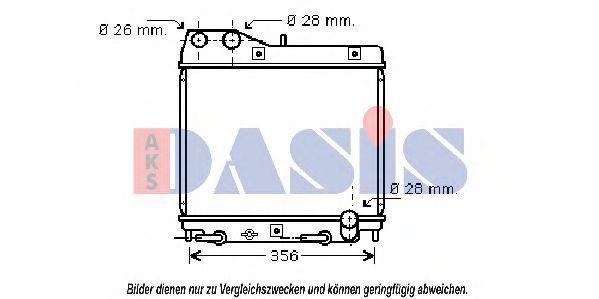 Радиатор, охлаждение двигателя AKS DASIS 100055N