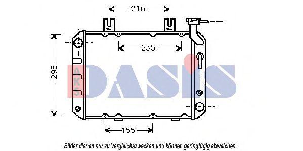 Радиатор, охлаждение двигателя AKS DASIS 100060N